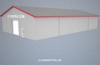 Lagerhal med sinusplader (500 m²)