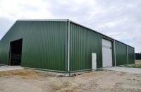 Basishal (Komplet byggesæt, trapezplader, tagrender og 1 port)